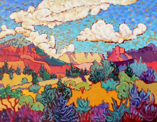 "Claudia Hartley - ""Clouds Over Red Rocks"""
