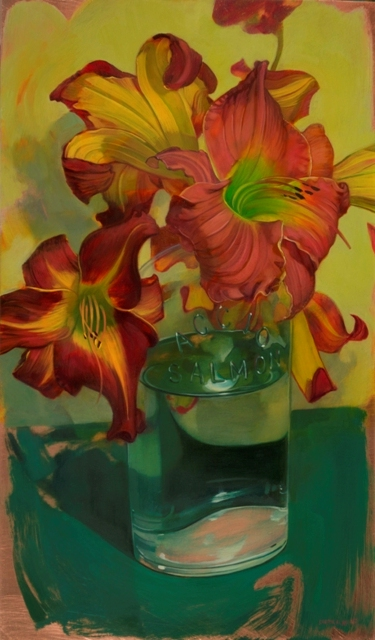"Benjamin Shamback - ""Day Lilies with Accio Bottle"""