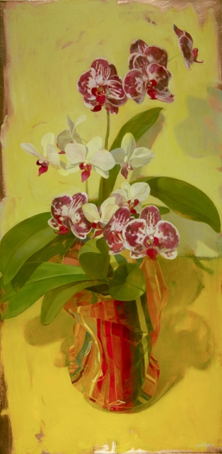 "Benjamin Shamback - ""Orchids in a Striped Bag"""