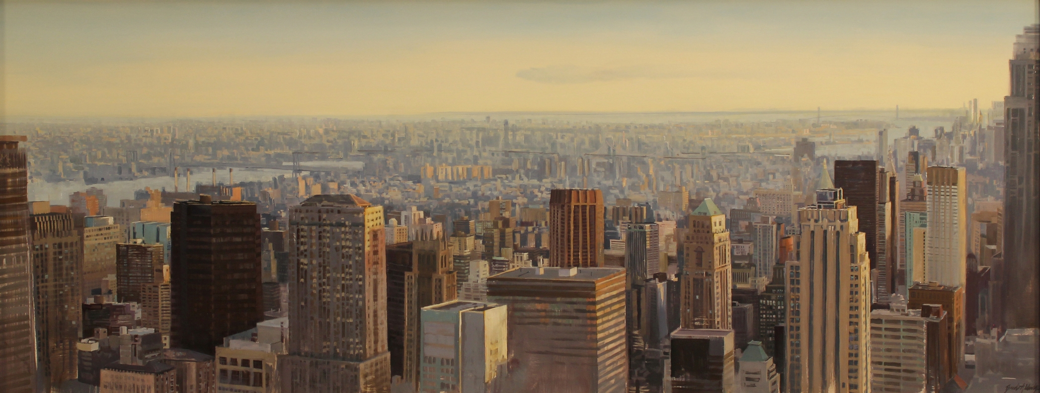 "Brad Aldridge - ""The City at Dusk, New York City"""