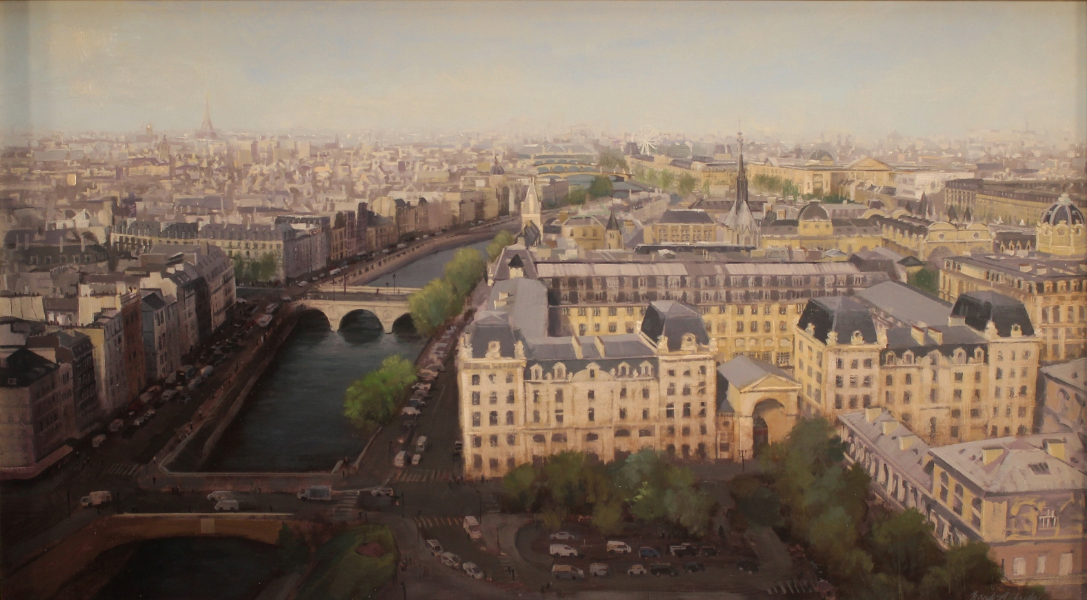 "Brad Aldridge - ""April in Paris (view from Notre Dame Cathedral)"""