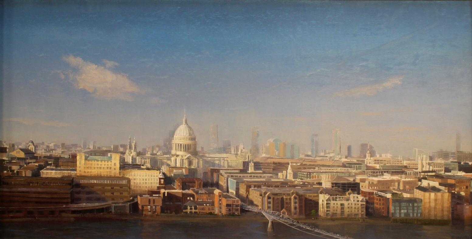 "Brad Aldridge - ""St. Paul's Cathedral, London (view from Tate Museum)"""