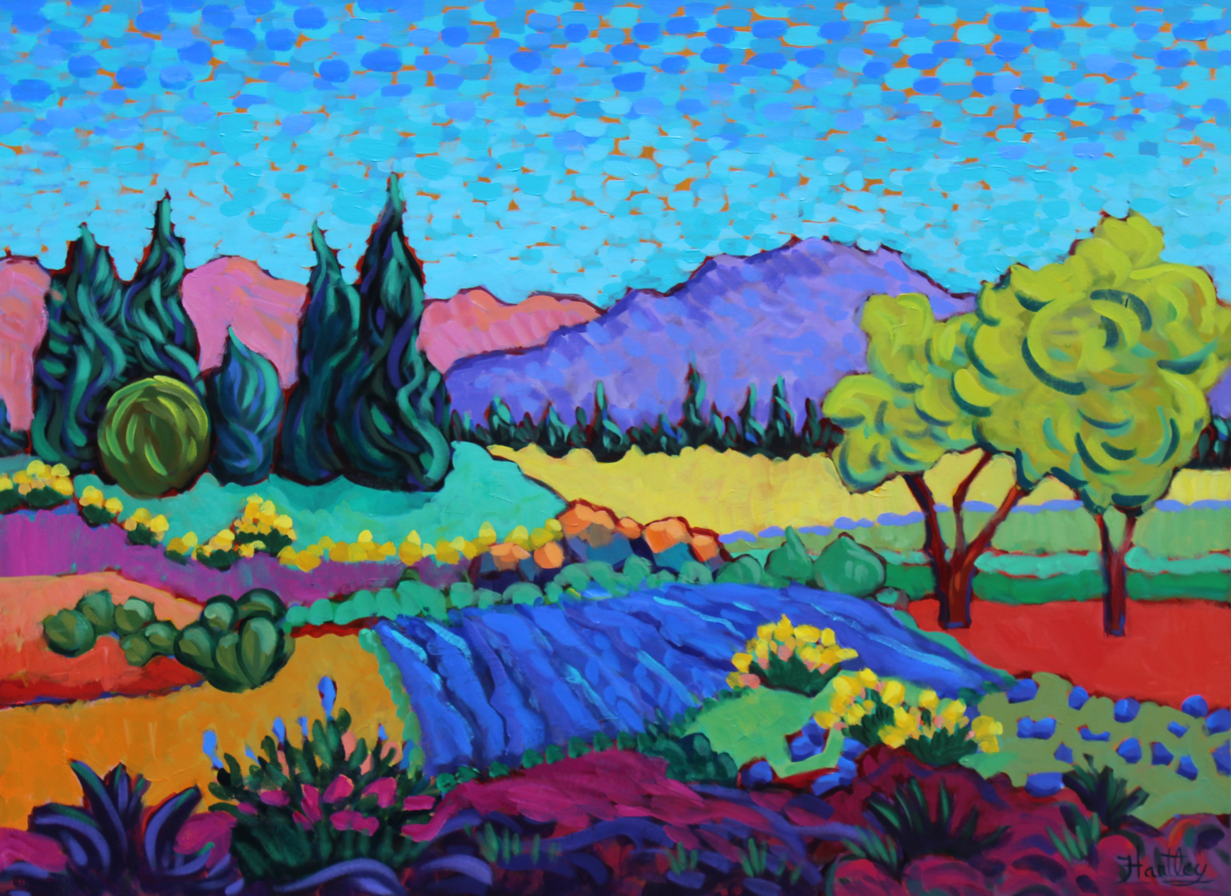 "Claudia Hartley - ""Valley Blues and Yellows"""